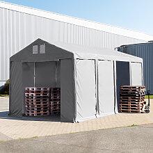 TOOLPORT Lagerzelt 4x8m - 3,0 m Seitenhöhe mit