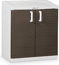 Toomax Kunststoffschrank Rattan Line XL, Braun