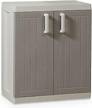 Toomax Kunststoffschrank Wood Line L, Grau