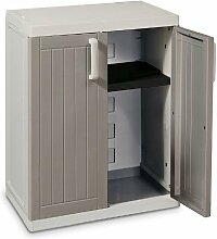 TOOMAX Z254R025 Kunststoffschrank Wood Line S, Tief - Art 254, grau