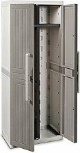 Toomax Z255R025 Kunststoffschrank Wood Line S, Besenschrank - Art 255, grau