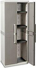 TOOMAX Z256R025 Kunststoffschrank Wood Line S, Böden - Art 256, grau