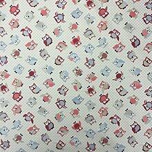 Toot Rose 100% Lifestyle Baumwolle Print Woodlands Collection Jungen/Mädchen Kinderzimmer Vorhänge Kids/Kinder, Wimpelkette, Designer Bettwaren, Kissen, Polstermöbel Schlafzimmer Vorhänge Stoff 137,2cm breit–von der halben Meter