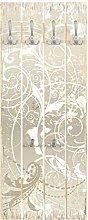 Top 8 Wandgarderobe Holz Perlmutt Ornament Design