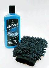 Top Car Autopflegeset, Flasche 500 ml mit Korallenhandschuh