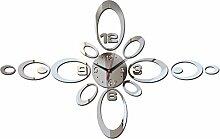 Top Fashion 2017 neue Mauer acryl Spiegel watch 3d Aufkleber horloge große dekorative Uhren modernes Wohnzimmer, gold