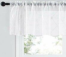 Top Finel Weiße Gardinen für die Küche, 45,7 cm