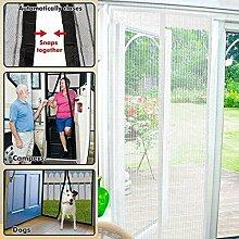 Top Home Solutions magnetische Insektenschutztür, Insektenvorhang, Netz, Weiß