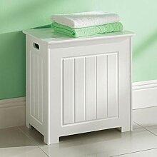 Top Home Solutions® Wäschekorb weiß Holz