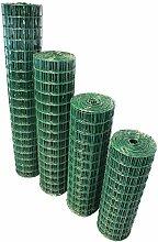 TOP MULTI Maschendrahtzaun Wildzaun Gartenzaun PVC-beschichtet grün - versandkostenfrei (D) (76mm 100cm x 10m)