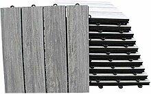 TOP MULTI WPC Holz Fliese 30x30cm für Terrasse
