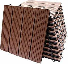 Top-Multi WPC Holz Fliese 30x30cm Light Brown