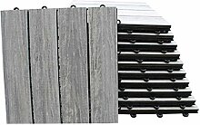 Top-Multi WPC Holz Fliese profiliert 30x30cm GRAU