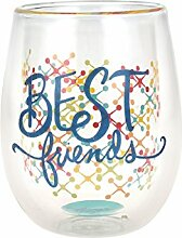 Top Regal Double Wand Glas Weingläser ohne Stiel
