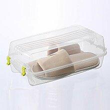 TopShishang Schuhbox, transparent, Kunststoff,