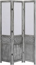 Topdeal 3-teiliger Raumteiler Grau 105 x 165 cm