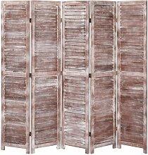 Topdeal 5-tlg. Raumteiler Braun 175x165 cm Holz
