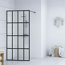 Topdeal Duschwand für Begehbare Dusche Hartglas