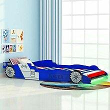 Topdeal Kinderbett mit LED im Rennwagen-Design 90
