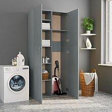 Topdeal Lagerschrank Grau 80 x 35,5 x 180 cm