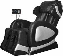 Topdeal Massagesessel mit Super Display Schwarz