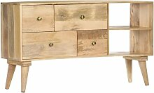 Topdeal Sideboard 110 x 30 x 62 cm Massivholz