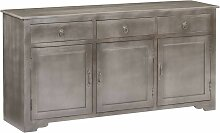 Topdeal Sideboard Grau 160 x 40 x 80 cm Massivholz