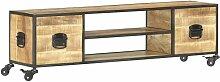 Topdeal TV-Schrank 130 x 30 x 39 cm Massivholz