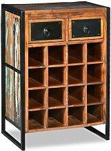 Topdeal Weinregal für 16 Flaschen aus Massivem