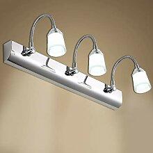 TopDeng Schwanenhals LED Spiegel-leuchte, 3w x3