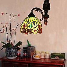 TopDeng Vintage Tiffany-stil Glas Wandlampe,