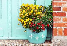 Topf-Dekoration - Topfdesign Ornament Lilie