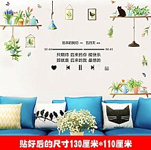 Topfpflanze Wandaufkleber dekorative Aufkleber