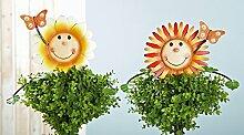 Topfstecker BLUMENFREUND Sonnenblume (69246) Metall Topfdeko Beetstecker Gartendeko