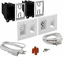 TOPGREENER Kabel-Management-System zur Wandmontage