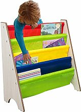 TopHomer Kinder Kinderregale Bücherregal 4 Fächer Holz Kinderzimmerregal Spielzeugregal für Wohnzimmer Badezimmer