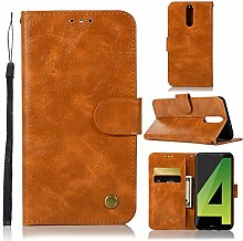 Tophung Huawei Mate 10Lite Case, Premium Retro PU Leder Flip Notebook Wallet Case mit Ständer Kreditkarte ID Slot Halterung Magnetverschluss schutztasche Slim Haut Cover für Huawei Mate 10Lite gelb