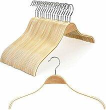 TOPIA HANGER Schmale Kleiderbügel aus Naturholz,