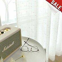 TOPICK Beige Gardinen für Wohnzimmer Leinen