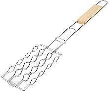 TOPINCN Grill Grillen Korb Metall Mesh Clip Wurst