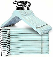 Topline Kleiderbügel aus Holz, 30 Stück blau