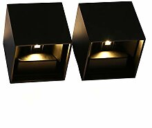 Topmo-plus 2er Pack 12W LED Wandlampe mit