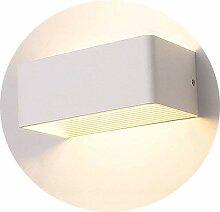 Topmo-plus 7W LED Wandleuchte Weiße Aluminium