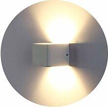 Topmo-plus LED Wandleuchte Aluminium Wandlampe
