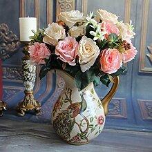 TOPmountain Rose Valentinstag Bouquet Hortensien Künstlich
