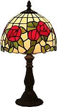 TOPNIU Jugendstil Tiffany-Stil-Kommode Tischlampe,