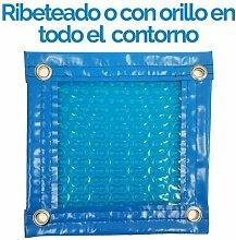 Topper Solar Schwimmbad 6x 9Meter (Ruffle oder mit Webkante Rundum) 500Mikron Stärke GEO Bubble