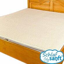 Topper Visco Matratzenauflage BoxSpring-Bett; mit Merino Schafwollbezug Standard (180x200 4cm)