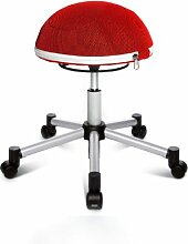 Topstar SH17BB2 Fitness-Hocker Sitness Half Ball /Stoffbezug, ro