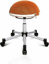 Topstar SH17BB4 Fitness-Hocker Sitness Half Ball /Stoffbezug, orange